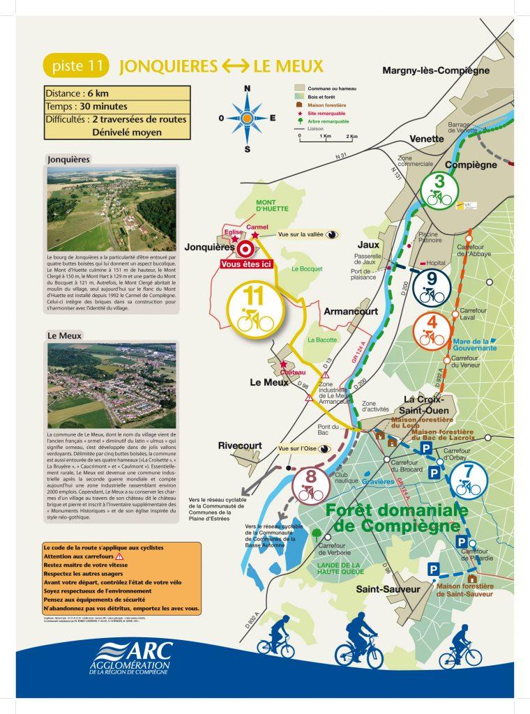 Panneau ONF Circuit vélo en forêt de Compiègne